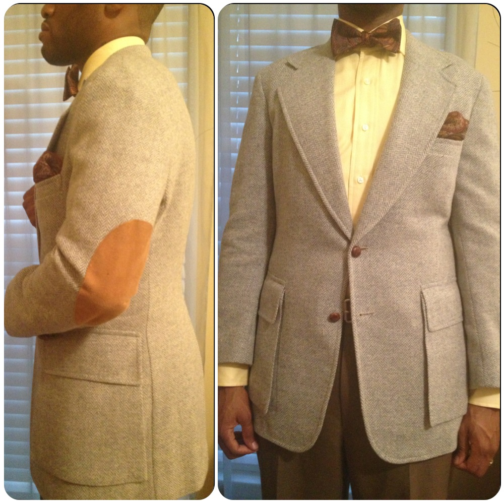Herringbone Tweed Blazer Vintage Dope Dealer