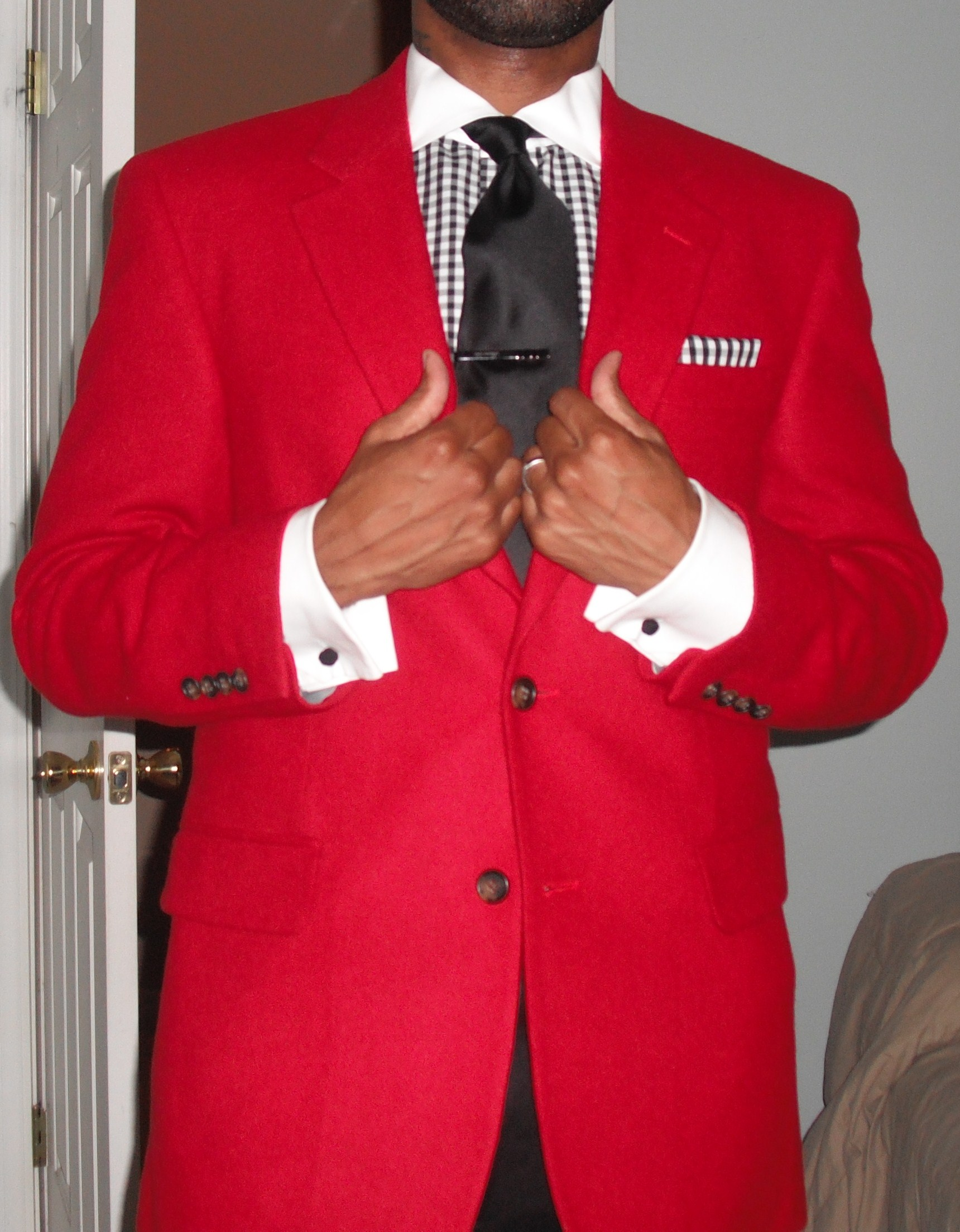 red sports coat vintage dope dealer