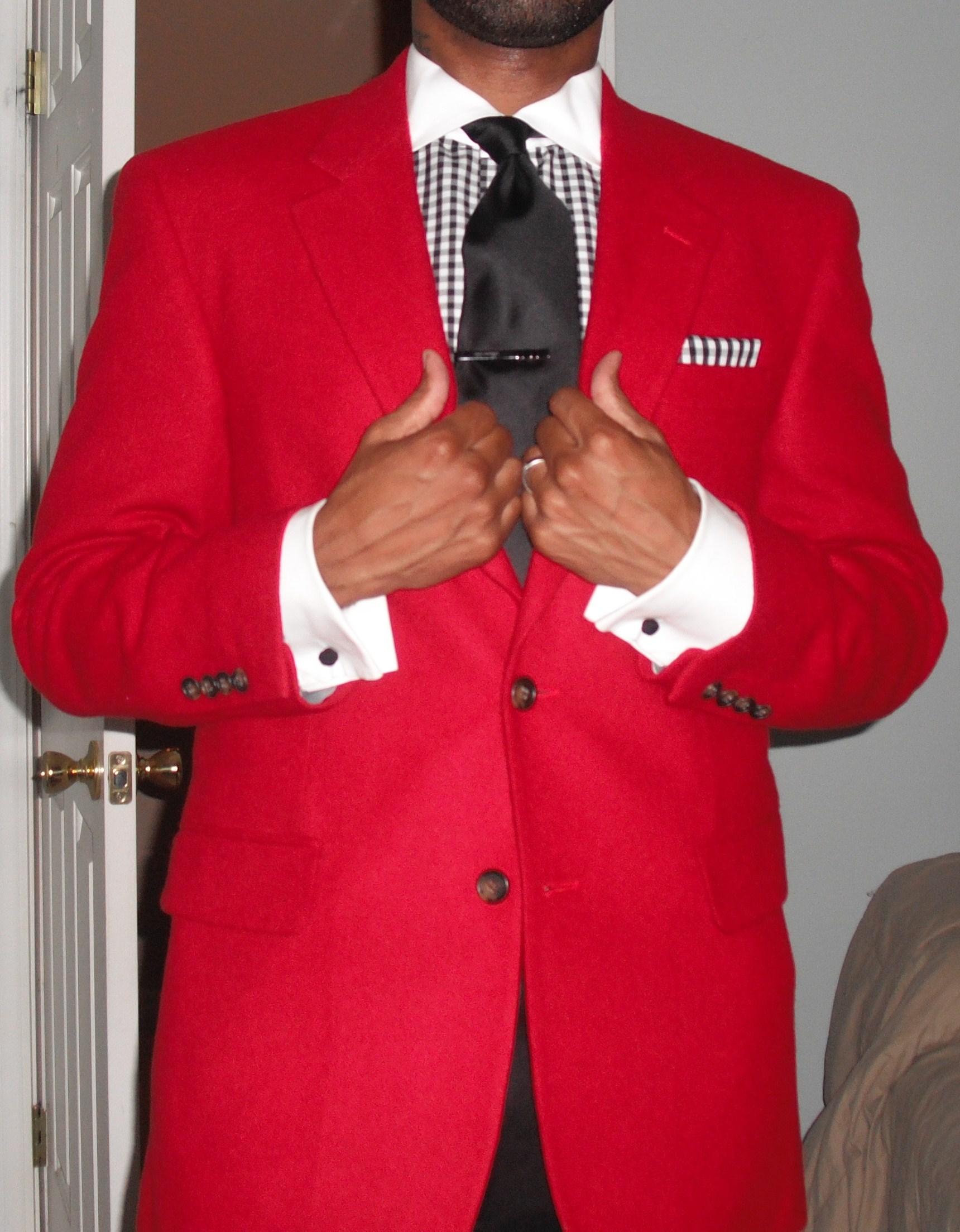 Red Blazer Vintage Dope Dealer