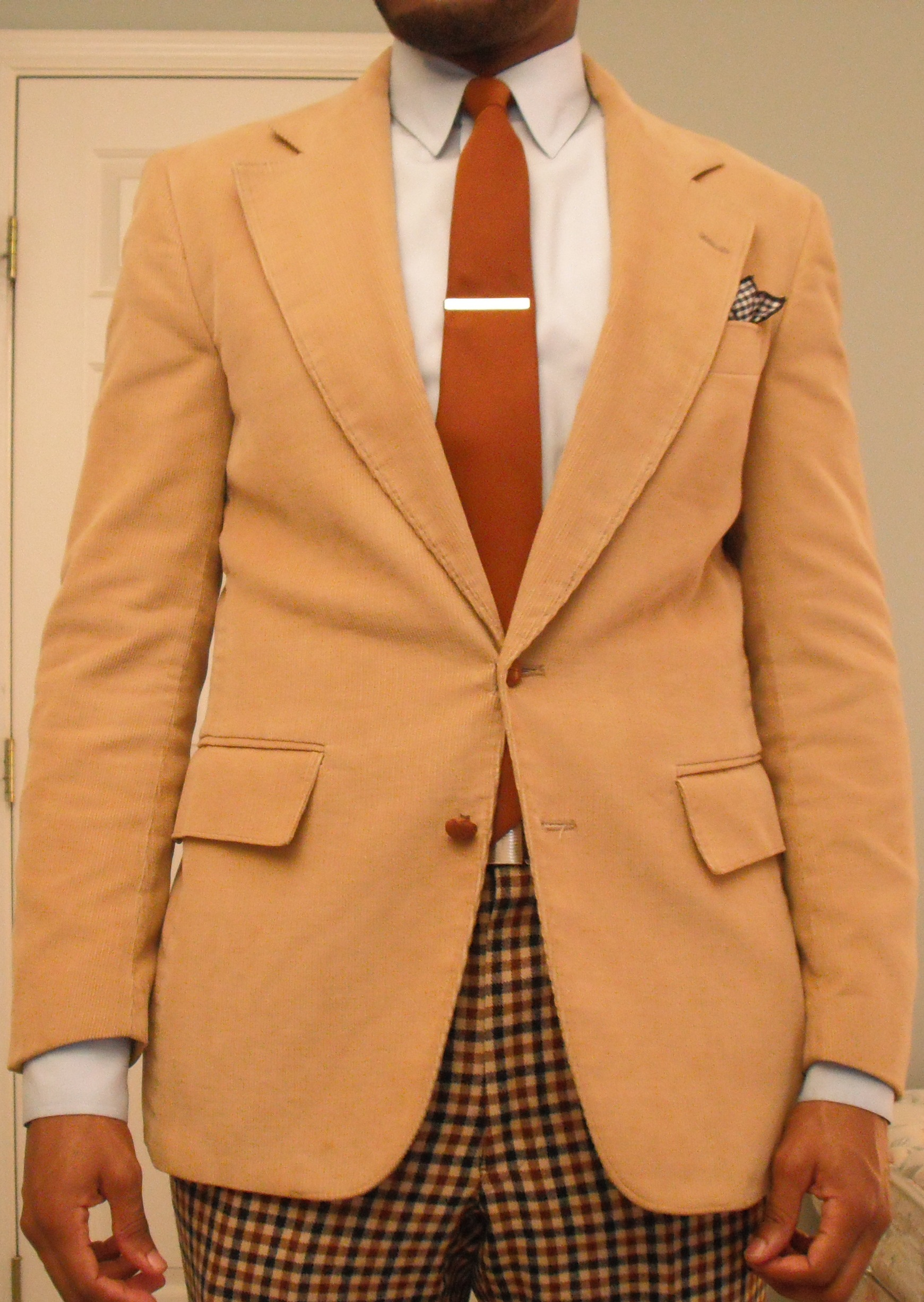 Vintage Narrow Rust Colored Necktie Was A Thrifting Find Tie Bar Is From Banana Republic