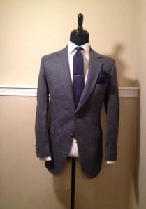 Blue Tweed Blazer