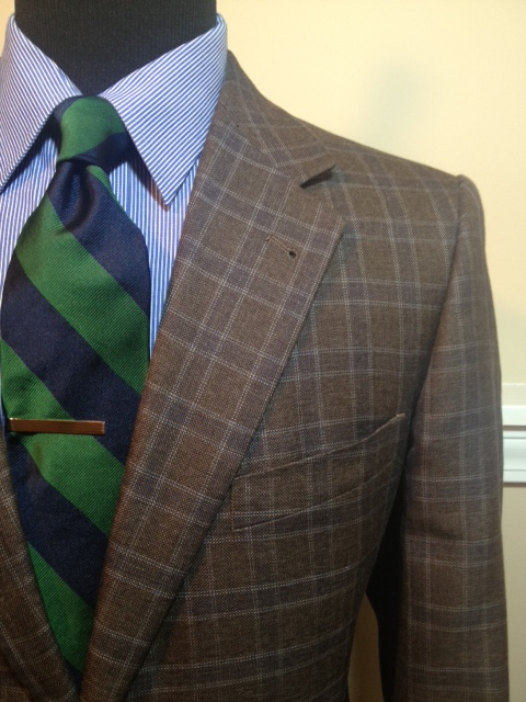 Brown Navy Plaid Sport Coat2
