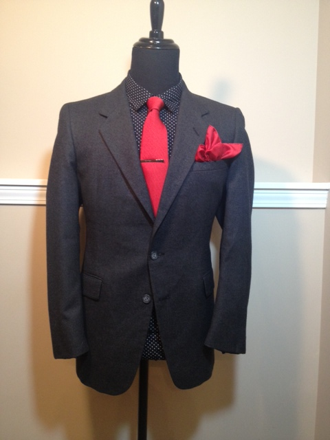 Wool Charcoal Suit2
