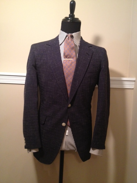Blue Spattered Sport Coat2