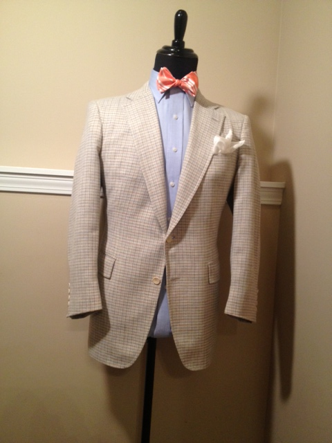 Cream Plaid Sport Coat