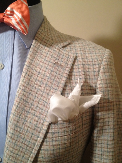 Cream Plaid Sport Coat2