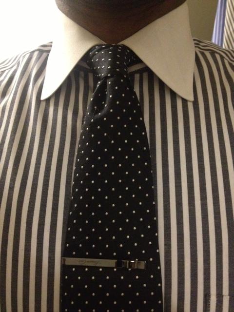 Black Polka Dot Necktie Vintage Dope Dealer
