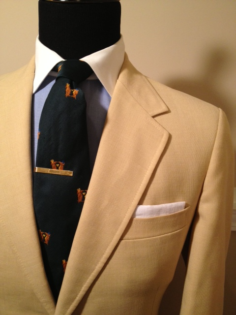 Yellow blazer with gold buttons | Vintage Dope Dealer