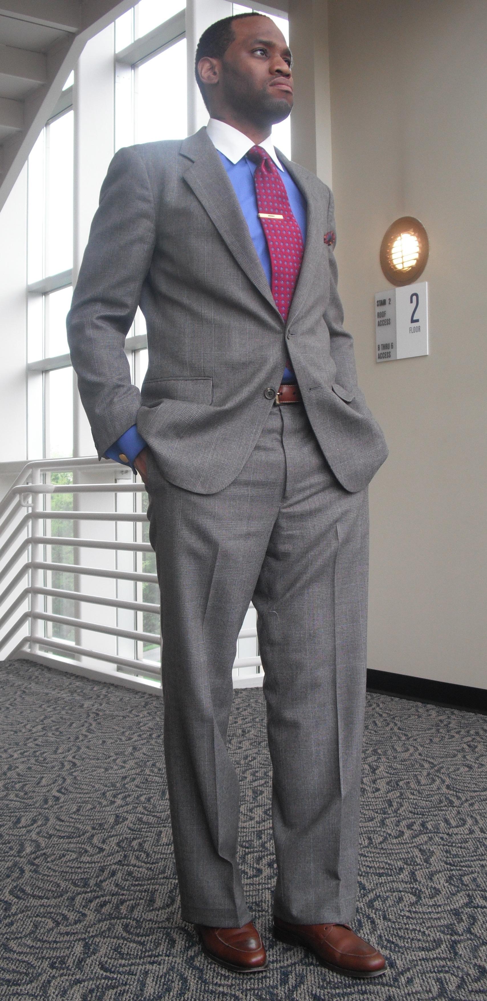 glen plaid suit vintage dope dealer