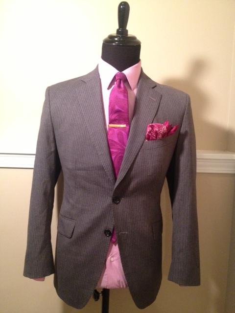Grey BR Pinstripe