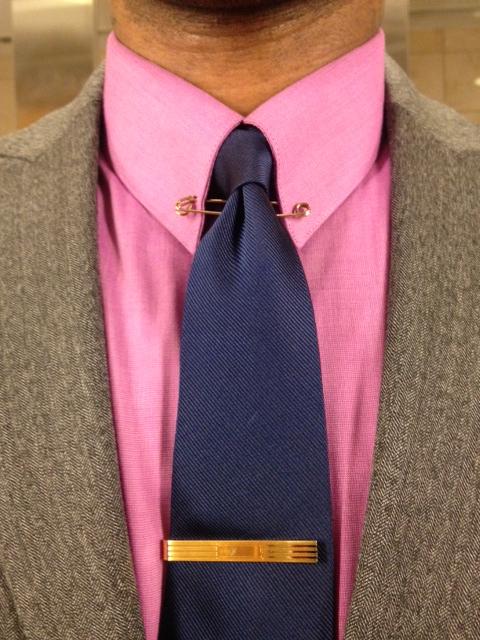 What Color Shirt With Black Suit >> Ralph Lauren gold collar pin | Vintage Dope Dealer