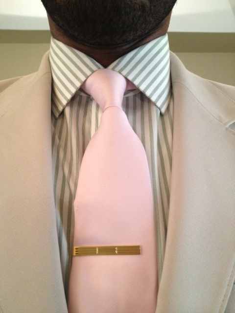 Brooks brothers gold tie bar vintage dope dealer for Tie bar collar shirt
